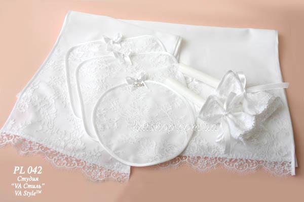 Венчальный набор в белом цвете с французским кружевом-Новинка!